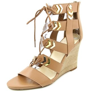 Fergie Finnick   Open Toe Synthetic  Wedge Heel