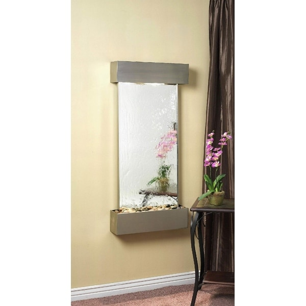 Adagio Cascade Springs Wall Fountain Silver Mirror Stainless Steel - CSS2040
