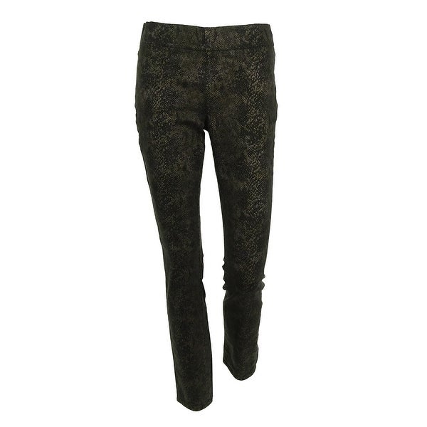 08a03dc2cae7b Shop NYDJ Women s Snake Print Leggings - Black - Free Shipping On Orders  Over  45 - Overstock - 15017389