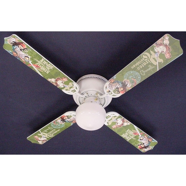 Pirates of the Caribbean Cartoon Print Blades 42in Ceiling Fan Light Kit - Multi