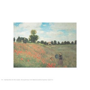 ''Les Coquelicots'' by Claude Monet Mini-Prints Art Print (8 x 10 in.)