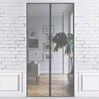 Just Relax Premium Magnetic Fiberglass Mesh Screen Door, 36x83 Inches (Option: Grey)