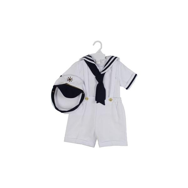 Paperio Toddler Boys Sailor Outfits Halloween Costume White