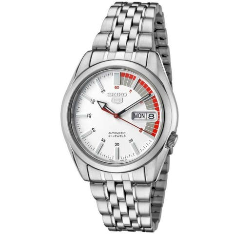 Seiko Men's SNK369 'Seiko 5' Stainless Steel Watch - White