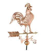 27 Weathervane Rooster Polished Copper
