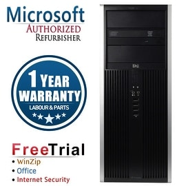 Refurbished HP Compaq 8000 Elite Tower Intel Core 2 Duo E8400 3.0G 4G DDR3 500G DVD Win 7 Pro 64 1 Year Warranty
