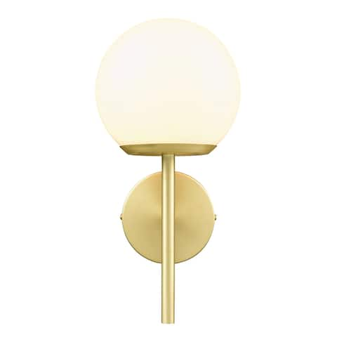 Light Society Anna Wall Sconce - Brushed Brass/White