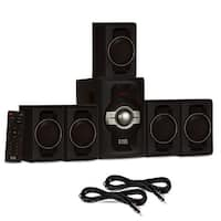Acoustic Audio AA5240 Home Theater 5.1 Bluetooth Speaker System & 2 Ext. Cables