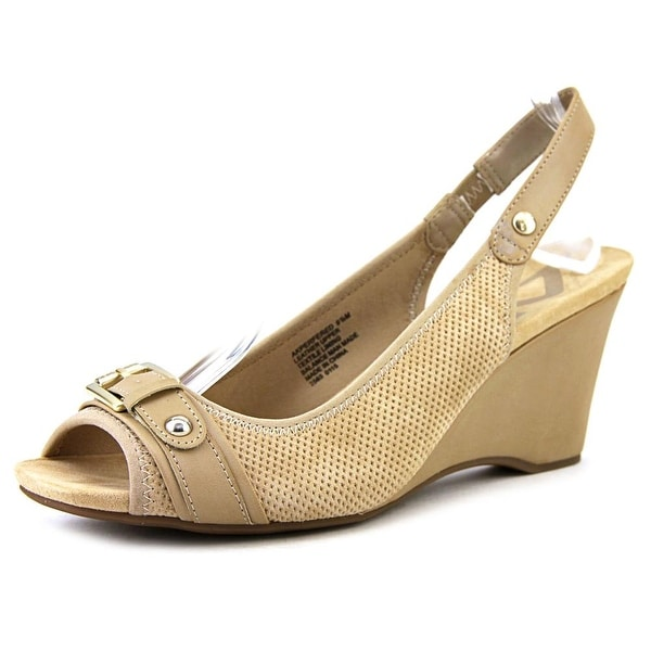 Anne Klein Sport Perfered   Open Toe Leather  Wedge Heel