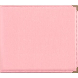 "Kaisercraft Leather D-Ring Album 12""X12""-Pink"