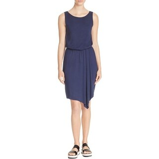 Three Dots Womens Colleen Casual Dress Faux-Wrap Sleeveless