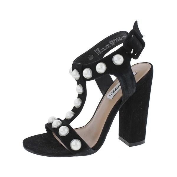 Steve Madden Womens Ella Dress Sandals Open Toe T-Strap