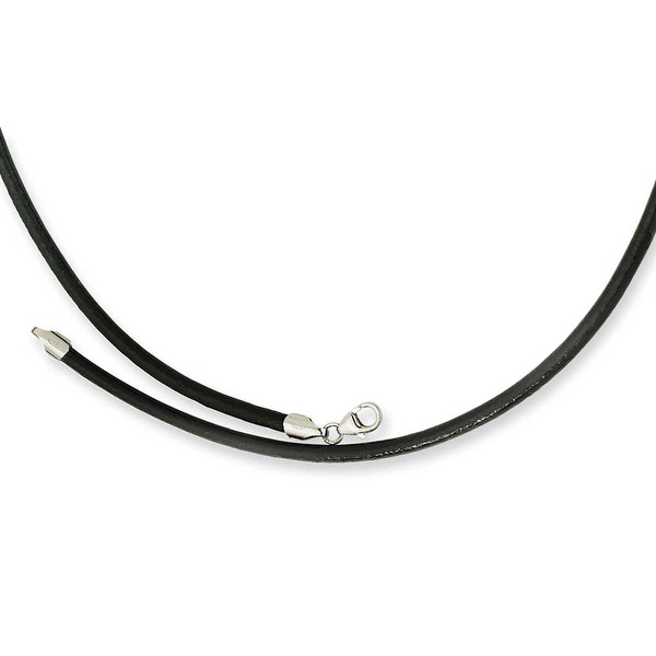 Chisel 3.00 Genuine Leather Greece Textured Necklace - 18 Inches (3 mm) - 18 in