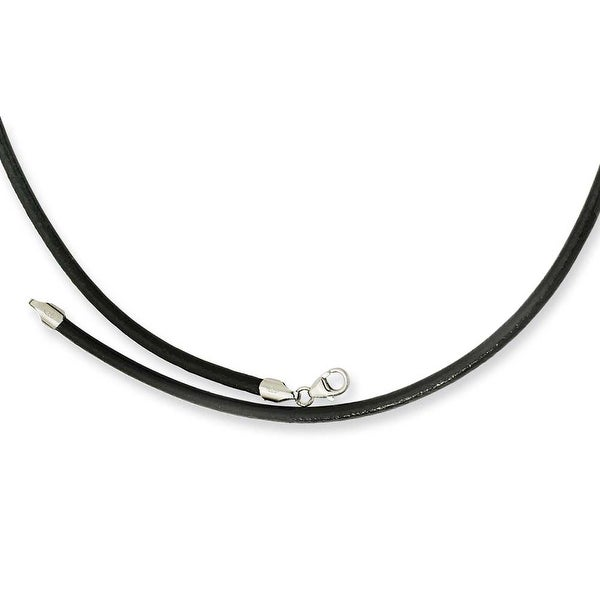 Chisel 3.00 Genuine Leather Greece Textured Necklace - 20 Inches (3 mm) - 20 in