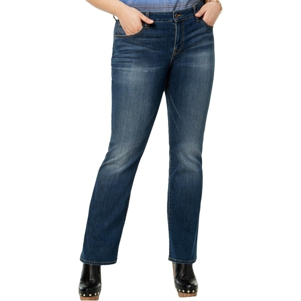 64a41b50695 Lucky Brand Womens Plus Ginger Bootcut Jeans Curvy Fit Medium Wash - 18W