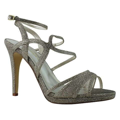 Caparros Womens Topaz Champagne Ankle Strap Heels Size 9