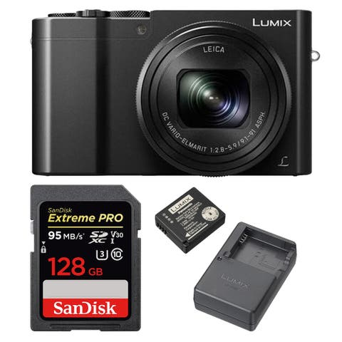 Panasonic DMC-ZS100 Camera 4K with DMW-ZSTRV Battery and 128GB Card