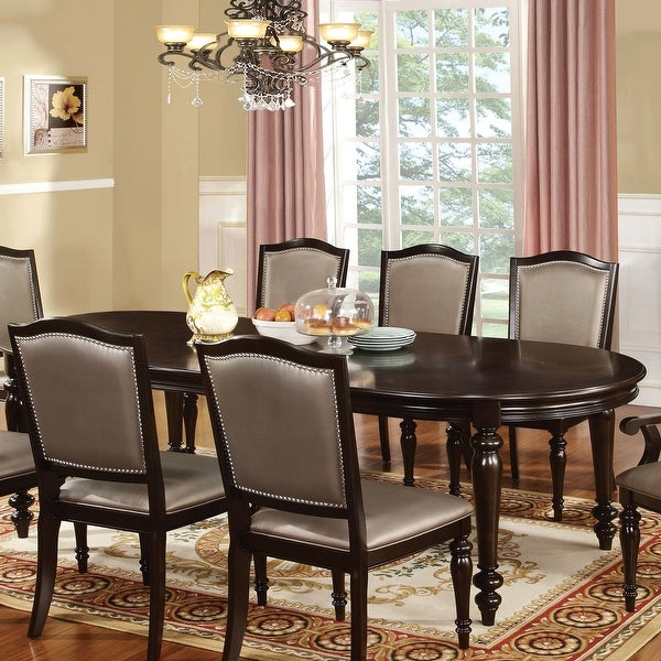 Furniture of America Harllington Walnut 98-inch Expandable Dining Table. Opens flyout.