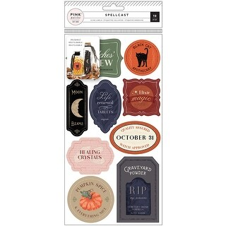 Spellcast Reuseable Vinyl Cling Labels 19/Pkg-