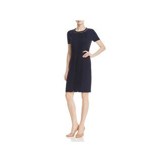 Elie Tahari Womens Marion Wear to Work Dress Pleated Short Sleeves (3 options available)