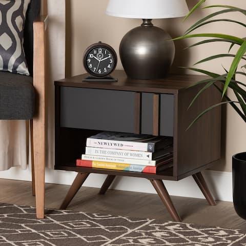 Naoki Modern and Contemporary 1-Drawer Nightstand