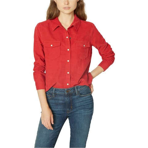 Sanctuary Clothing Womens Snap-Front Button Up Shirt