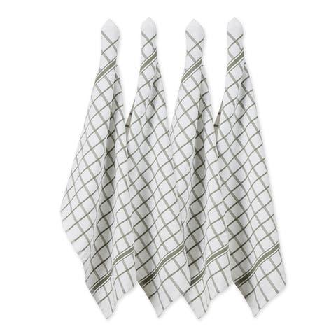 DII Artichoke Windowpane Terry Dishtowel (Set of 4)