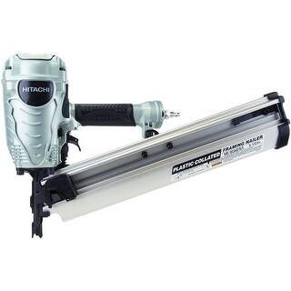 "Hitachi NR90AES1 Plastic Collated Framing Nailer, 2"" - 3-1/2"""