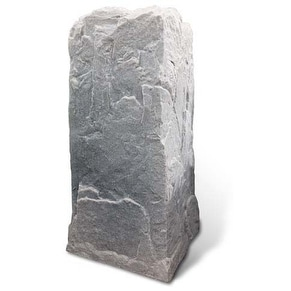 Artificial Rock Cover for Tall Telephone Cable Box - Thumbnail 3