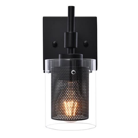 Modern Bathroom Wall Sconces Vanity Light with Cylinder Glass Shade