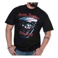 Harley-Davidson Men's On The Block Crew-Neck Short Sleeve T-Shirt - Black