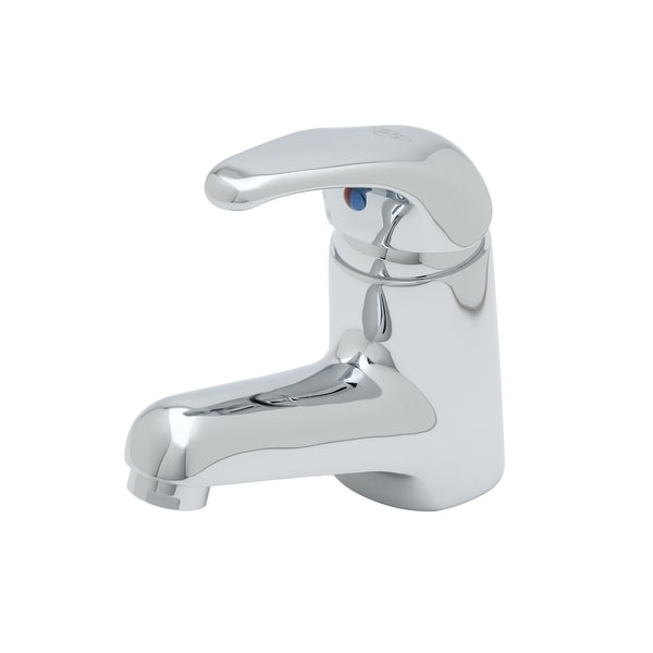 """T and S Brass B-2701 Deck Mounted Single Lever Lavatory Faucet with Short Spout, 2.2 GPM Aerator and 16"""" Flexible Stainless"""