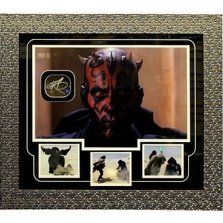 Darth Maul Close Up Head Shot Autographed Framed Collage