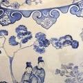 "Luxury Blue Three Vase Printing Pillow 18""X18"" - Thumbnail 1"