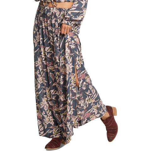 Roxy Womens Last Forever Maxi Skirt Printed Long