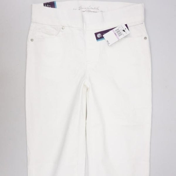 14b6068c21bb7 Shop GLORIA VANDERBILT NWT Avery Pull-On Skimmer Pants White Womens ...