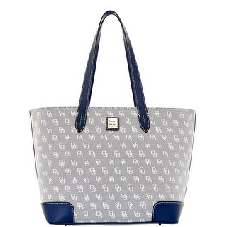 Dooney & Bourke Madison Signature Large Zip Shopper (Introduced by Dooney & Bourke at $248 in Jan 2016) - Blue