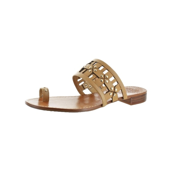 Vince Camuto Womens Helice Flat Sandals Two-Piece Toe Loop