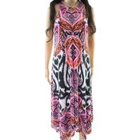 INC Pink Women's Size Large L Zebra Paisley Print Sheath Dress