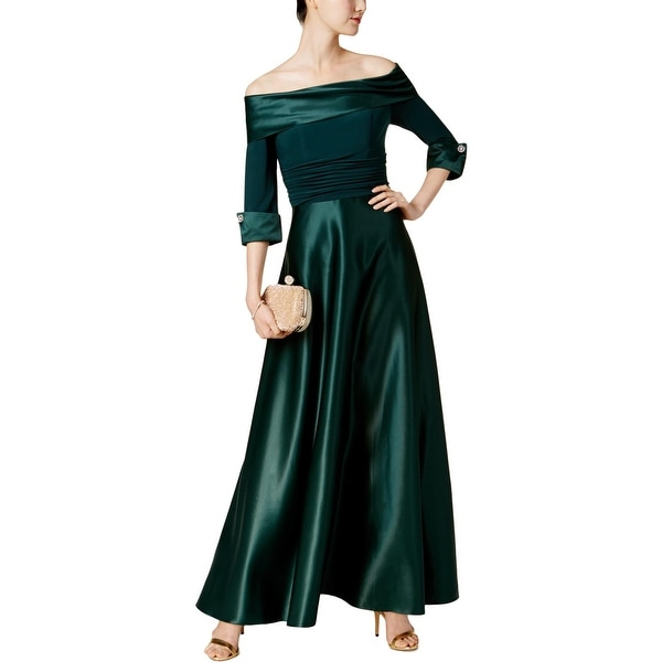 88c3cb48ea02 Shop Jessica Howard Womens Evening Dress Off-The-Shoulder Ball Gown ...