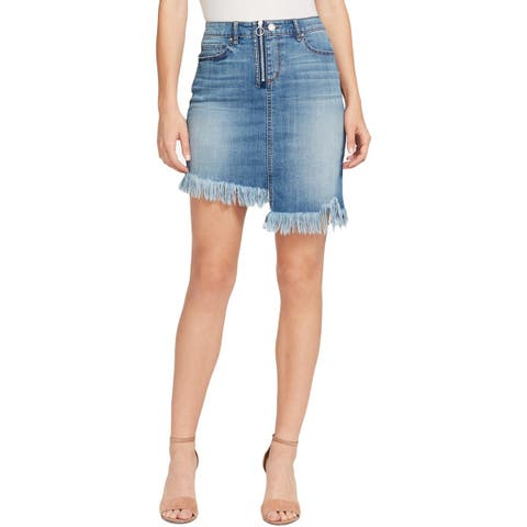 William Rast Womens Tiff Denim Skirt Two Tone Mini