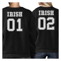 Irish 01 Irish 02 Cute Couple Matching Sweatshirt For Irish Couples