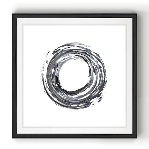 E Encircle I -Black Framed Print