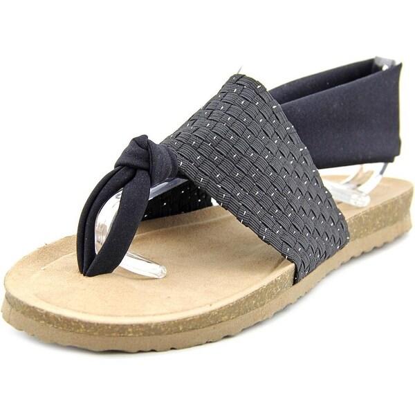 Dirty Laundry Juggernaut Women Open-Toe Canvas Black Slingback Sandal