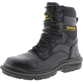 "Caterpillar Mens Generator 8"" Leather Waterproof Work Boots - 7 wide (e)"