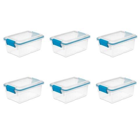 STERILITE 7.5 Quart Gasket Storage Boxes, Clear - Case of 6