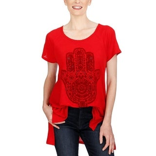Lucky Brand Short Sleeve Graphic Tunic Tee - m
