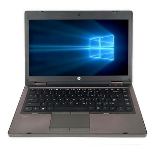 Refurbished HP ProBook 6465B 14.0'' Laptop AMD A6-3410MX 1.6G 4G DDR3 320G DVDRW Win 10 Pro 1 Year Warranty - Black