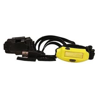 Bandit USB Headlamp with 3M Dual Lock & USB Cord, Yellow