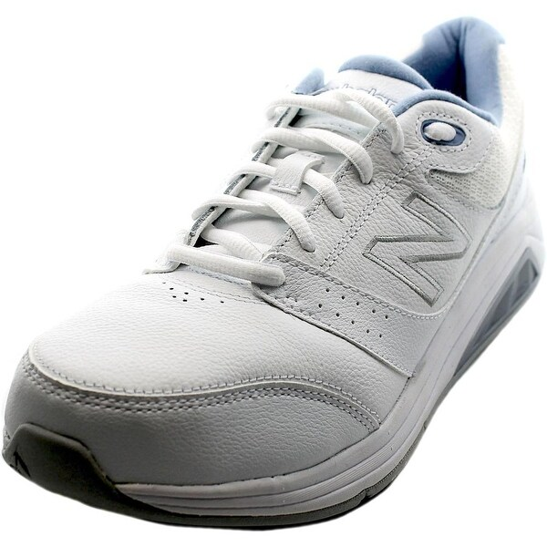 New Balance WW928 Women 2A Round Toe Leather White Sneakers